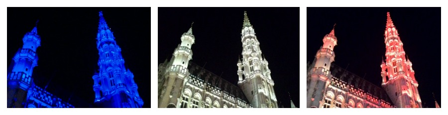 Světelná show v Bruselu