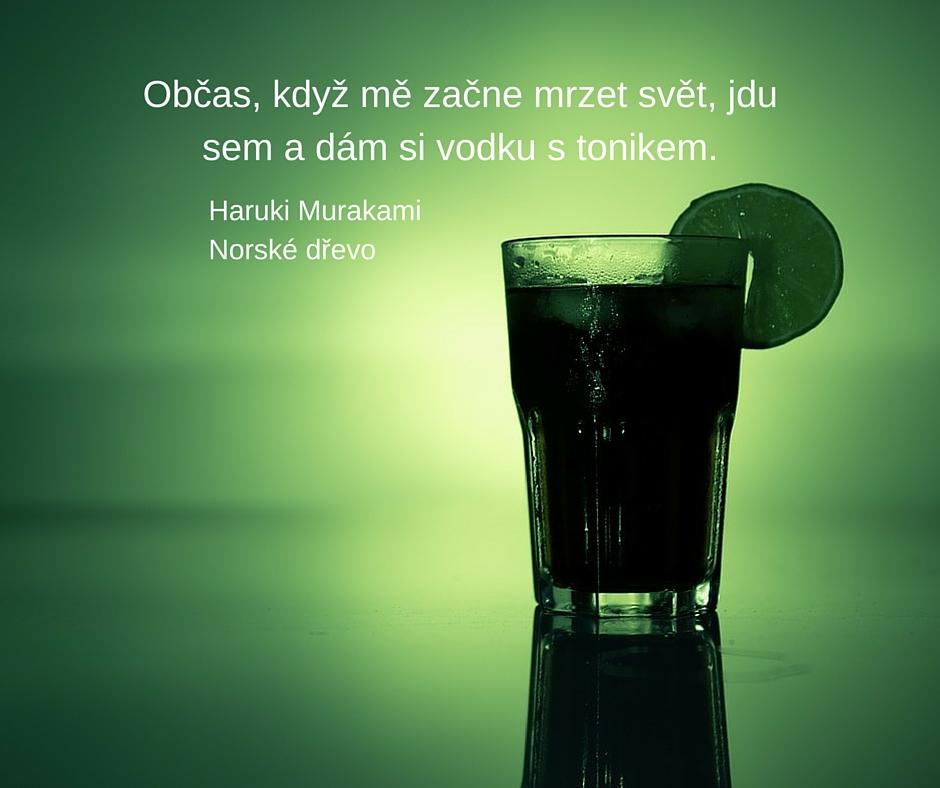 Občas, když mě začne mrzet svět, jdu sem a dám si vodku s tonikem.