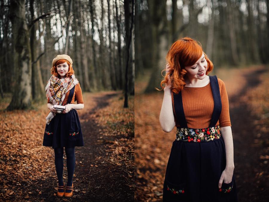 Krásná dívka v lese