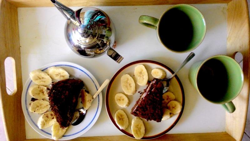 Snídaně a krtkův dort