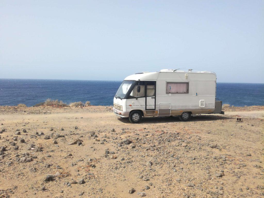 Obytná dodávka na jihu Tenerife